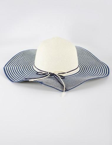 Chapeau à paille avec nœud