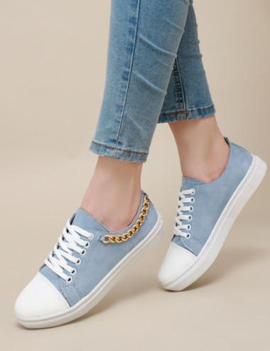 Sneakers à chaine doré