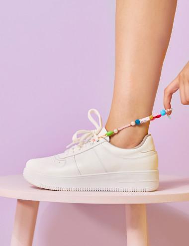 Sneakers à chaine multicolores