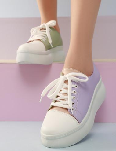 Sneakers à semelle épais